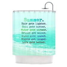 Summer XXL Polyester Shower Curtain