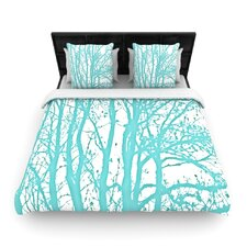 Mint Trees Duvet Cover