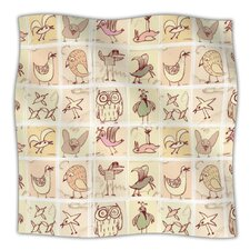 Birdies Microfiber Fleece Throw Blanket