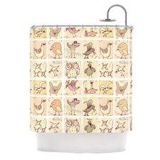 Birdies Polyester Shower Curtain