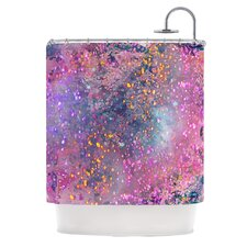 Pink Universe Polyester Shower Curtain