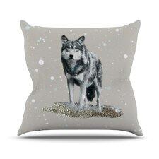 Wolf Outdoor Throw Pillow