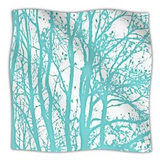 Mint Trees Microfiber Fleece Throw Blanket