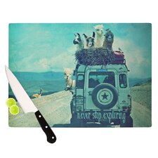 Never Stop Exploring III Cutting Board