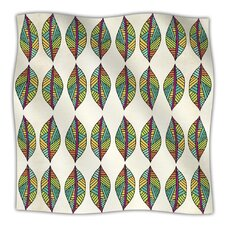 Tribal Leaves Microfiber Fleece Throw Blanket