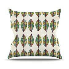 Tribal Leaves Throw Pillow