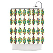 Tribal Leaves Polyester Shower Curtain
