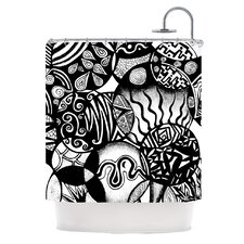 Circles and Life Polyester Shower Curtain