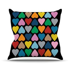 Up and Down Hearts by Project M Throw Pillow