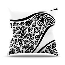 Bird In Disguise White Pattern Throw Pillow
