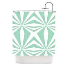 Starburst Polyester Shower Curtain