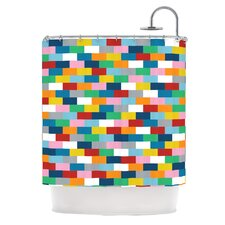 Bricks Polyester Shower Curtain