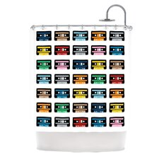 Rainbow Tapes Polyester Shower Curtain