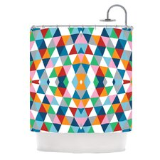 Geometric Polyester Shower Curtain