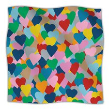 More Hearts Microfiber Fleece Throw Blanket
