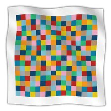 Colour Blocks Zoom Microfiber Fleece Throw Blanket