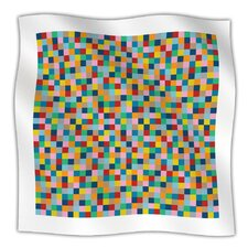 Colour Blocks Microfiber Fleece Throw Blanket