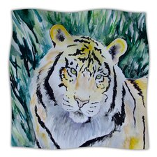 Tiger Microfiber Fleece Throw Blanket