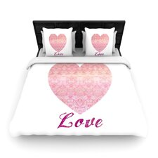 Love by Pom Graphic Woven Duvet Cover