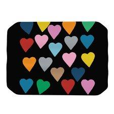 Hearts Colour On Black Placemat