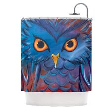 Hoot Polyester Shower Curtain