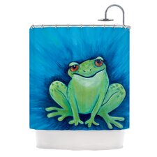 Ribbit Ribbit Polyester Shower Curtain
