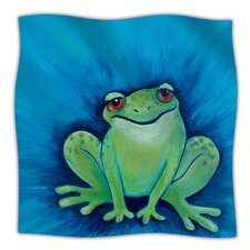 Ribbit Ribbit Microfiber Fleece Throw Blanket
