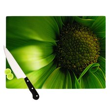 Green Flower Cutting Board