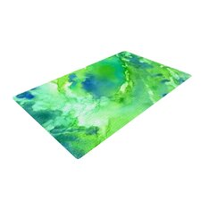 Touch of Blue Green Area Rug