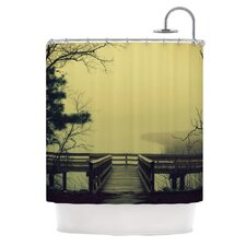 Fog on The River Polyester Shower Curtain