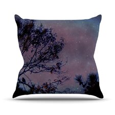 Twilight Tree Outdoor Throw Pillow