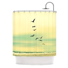 Across The Endless Sea Polyester Shower Curtain