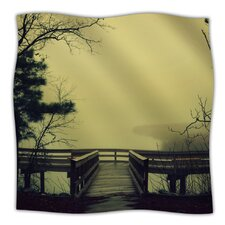 Fog on The River Microfiber Fleece Throw Blanket