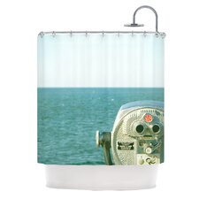 Ocean View Polyester Shower Curtain