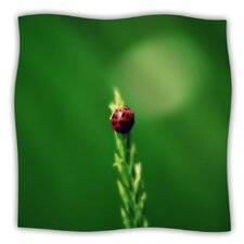 Ladybug Hugs Microfiber Fleece Throw Blanket