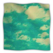 I Love That You Love Me Microfiber Fleece Throw Blanket