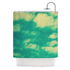 I Love That You Love Me Polyester Shower Curtain