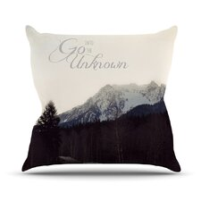 Go into The Unknown Throw Pillow