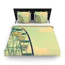 Ferris Wheel by Robin Dickinson Woven Duvet Cover
