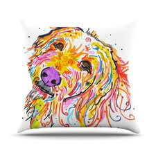 Koda by Rebecca Fischer Labradoodle Throw Pillow