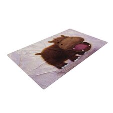 The Happy Hippo Novelty Rug