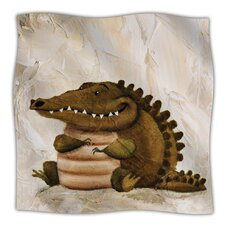 Smiley Crocodiley Microfiber Fleece Throw Blanket