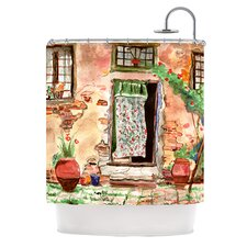 Tuscan Door Polyester Shower Curtain