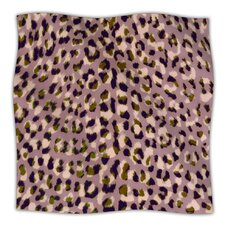 Leopard Print Microfiber Fleece Throw Blanket