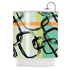 Sixties Stripe Polyester Shower Curtain