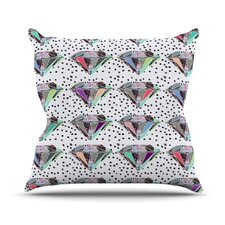 Polka Dot Diamond Throw Pillow