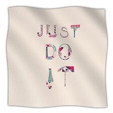 Just Do It Microfiber Fleece Throw Blanket