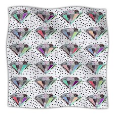 Polka Dot Diamond Microfiber Fleece Throw Blanket