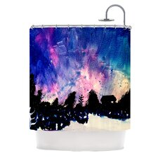 First Snow Polyester Shower Curtain