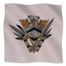 Indian Feather Microfiber Fleece Throw Blanket